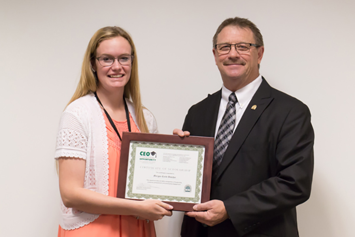 2017 CEO Scholarship recipient Morgan Boucher of Berlin attends Plymouth State University.