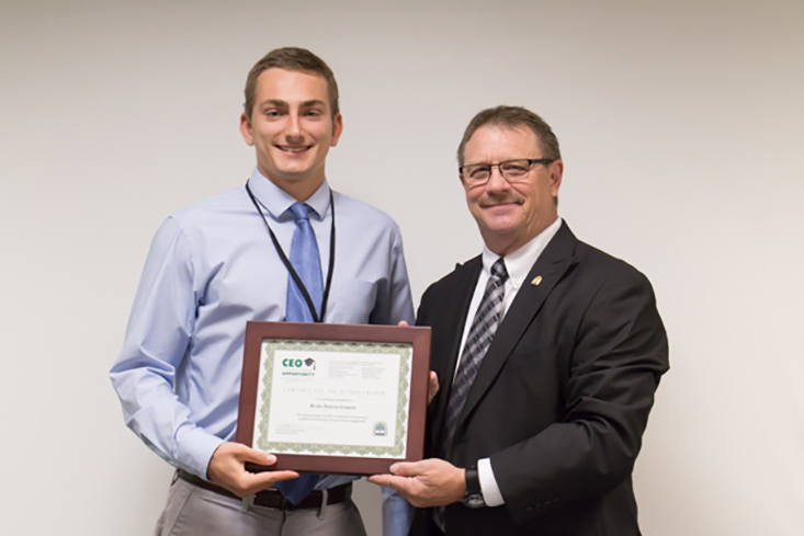2017 CEO Scholarship recipient Brady Camplin of Amherst attends the University of New Hampshire.