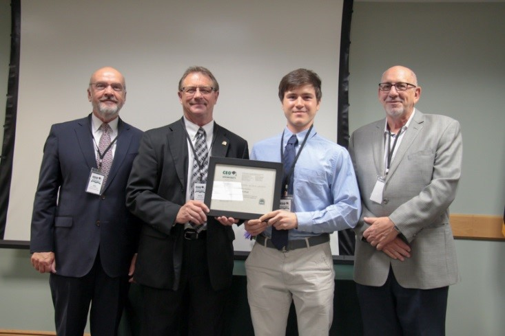 Congratulations, Francis Gesel (University of New Hampshire), our first Rene A. Drouin CEO Scholarship recipient!