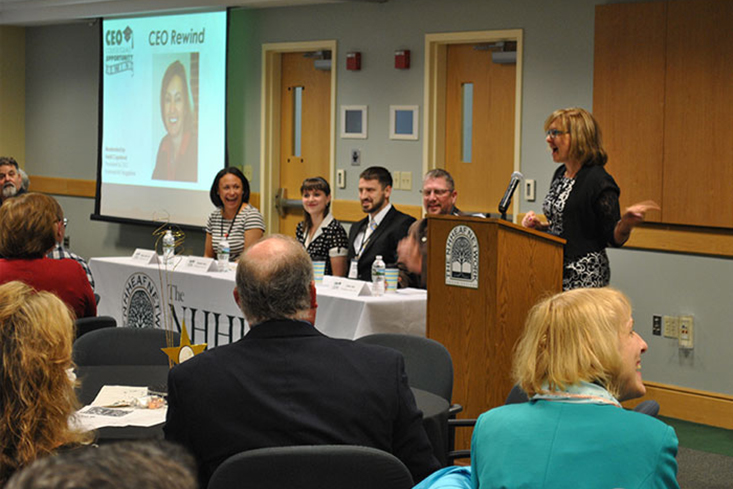 CEO Heidi Copeland (Business NH magazine) leads a great panel discussion with previous CEO recipients.