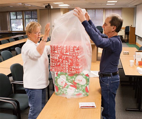 Dec. 2015 - Operation Santa Present Bagging